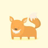 Cartoon fox. Vector EPS 10 hand drawn illustration Royalty Free Stock Image