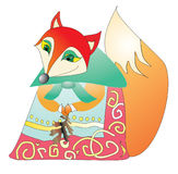 Cartoon fox. Vector illustration. For cards and design Royalty Free Stock Photography
