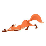 Cartoon fox Stock Images