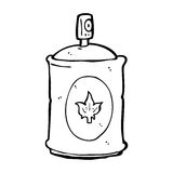 Cartoon fragrance spray. Black and White Line cartoon in retro style.  Vector available Royalty Free Stock Photos