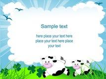 Cartoon frame Stock Image