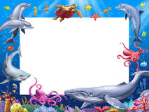 Cartoon frame Stock Photography