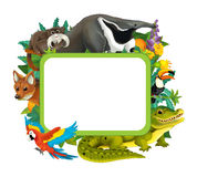 Cartoon frame with different animals - isolated Stock Images