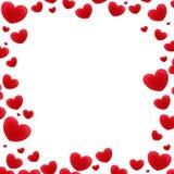 Cartoon frame - hearts Stock Photography