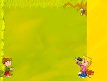 Cartoon frame - illustration for the children Stock Photo