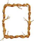 Cartoon Frame made of tree trunk and branches Stock Image