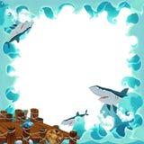 Cartoon frame ocean Royalty Free Stock Photo