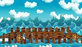 Cartoon frame ocean Stock Photo