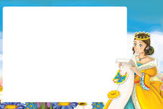 Cartoon frame with princess Royalty Free Stock Photo