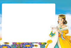 Cartoon frame with princess Royalty Free Stock Photography