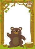 Cartoon frame scene - bear Royalty Free Stock Photos