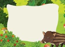 Cartoon frame scene - forest Stock Photo