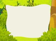 Cartoon frame scene - forest Stock Photography