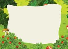 Cartoon frame scene - forest Stock Image