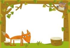 Cartoon frame scene - fox Royalty Free Stock Photography