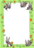 Cartoon frame scene - rabbit Royalty Free Stock Images