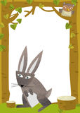 Cartoon frame scene - rabbit Royalty Free Stock Image