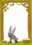 Cartoon frame scene - rabbit Stock Images