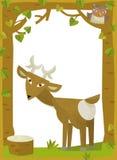 Cartoon frame scene - roe Royalty Free Stock Image