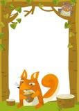 Cartoon frame scene - squirrel Royalty Free Stock Photos