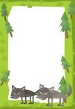Cartoon frame scene - wolf Royalty Free Stock Image