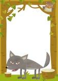 Cartoon frame scene - wolf Royalty Free Stock Photos