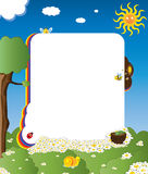 Cartoon Frame With Happy Insects Stock Photos