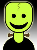 Cartoon Frankenstein. A cute and friendly cartoon Frankenstein for the Halloween holiday Royalty Free Stock Photo