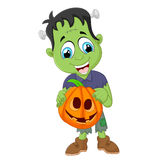 Cartoon Frankenstein halloween Stock Image