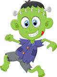 Cartoon Frankenstein kid Stock Images