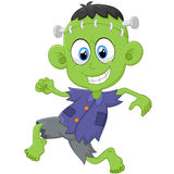 Cartoon Frankenstein kid Stock Image
