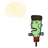 Cartoon frankenstein monster head Stock Image