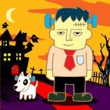 Cartoon Frankenstein. Monster. Vector illustration Royalty Free Stock Photo