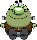 Cartoon Frankenstein Sitting Royalty Free Stock Photography
