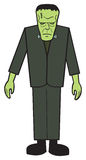 Cartoon FrankNStein. A cartoon depiction of the classic Frankenstein's monster Stock Photo