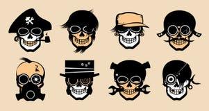Cartoon freak icons. Royalty Free Stock Photos