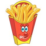 Cartoon French Fries Stock Image