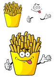 Cartoon french fries with hands and face Royalty Free Stock Images