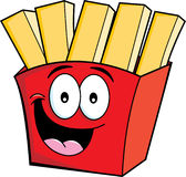 Cartoon french fries Stock Photos