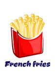 Cartoon french fries in red box Stock Images