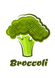 Cartoon fresh green healthy broccoli vegetable Stock Images