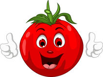 Cartoon Fresh red tomatoes thumbs up Stock Photography