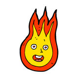 cartoon friendly fireball Royalty Free Stock Images