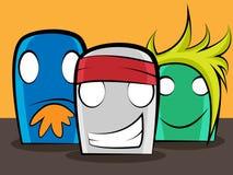 Cartoon friends. 3 thumb cartoon friends basically designed as band members Vector Illustration