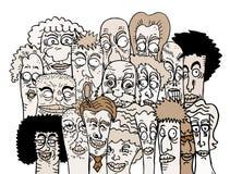 Cartoon friends art Stock Images