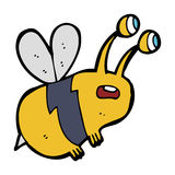 Cartoon frightened bee Royalty Free Stock Photo