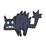 Cartoon frightened black cat Royalty Free Stock Image
