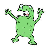 Cartoon frightened frog Royalty Free Stock Images