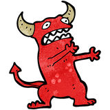 Cartoon frightened little devil Stock Photography