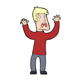 Cartoon frightened man Stock Images